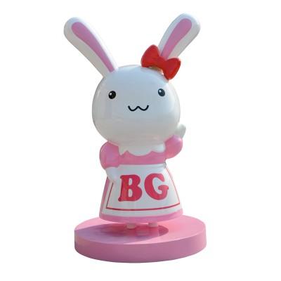 兔子玻璃钢雕塑