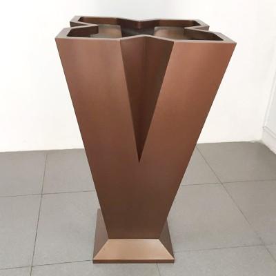 不锈钢V型花盆