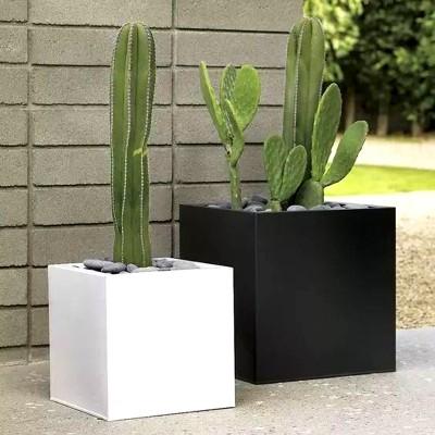 不锈钢方形花器