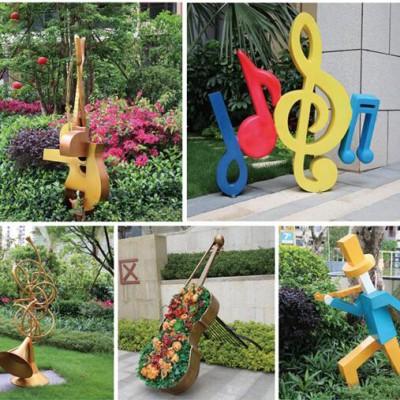 惠州星河丹堤广场不锈钢音乐摆件案例