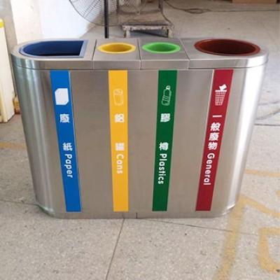 精品分类不锈钢垃圾桶