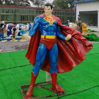 玻璃钢超人人物广场雕塑