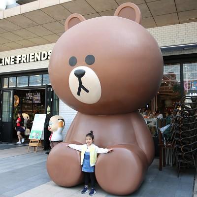 商场玻璃钢布朗熊卡通广场雕塑
