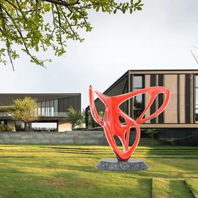 玻璃钢蝴蝶景观广场雕塑
