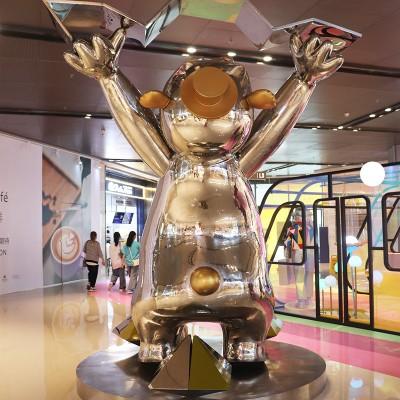 玻璃钢商场熊动物广场艺术造型雕塑