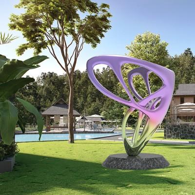 玻璃钢蝴蝶造型景观城市广场雕塑