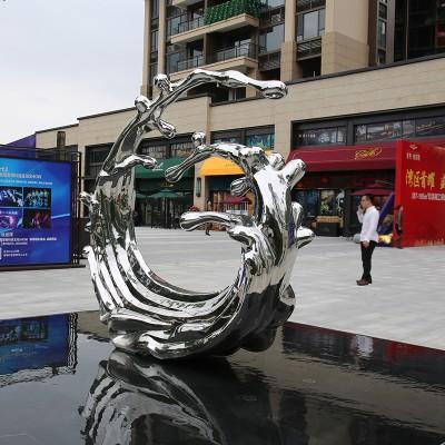 不锈钢浪花城市景观广场雕塑