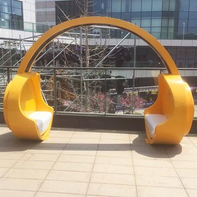 玻璃钢休闲椅耳机造型装饰椅大堂美陈广场座凳
