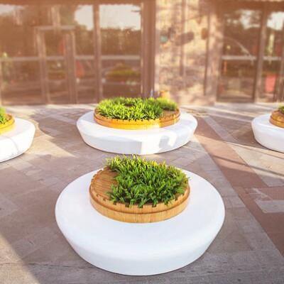 玻璃钢圆形花坛树池种植池