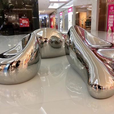 不锈钢异形金属镜面坐凳定制