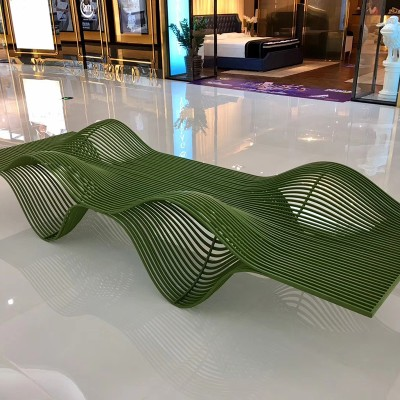 不锈钢金属板镂空创意坐凳