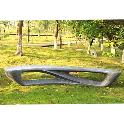 玻璃钢个性公共休息区凳子月亮户外造型休闲椅