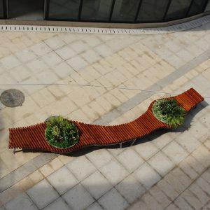 不锈钢景观花盆组合座椅,自然纯净绿色生活!