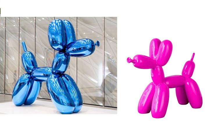 不锈钢气球狗动物景观广场雕塑