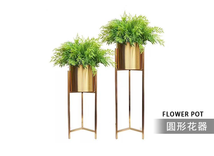 不锈钢架台花盆