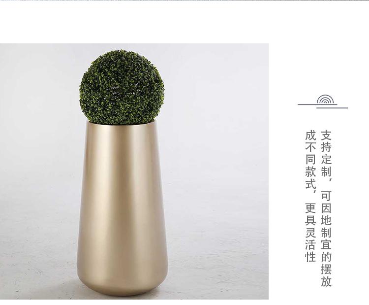 不锈钢圆底花器