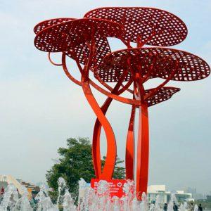 现代户外不锈钢雕塑,美的冒泡的雕塑!