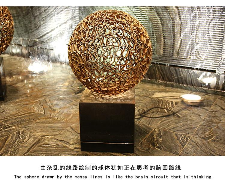 智慧球不锈钢景观广场雕塑