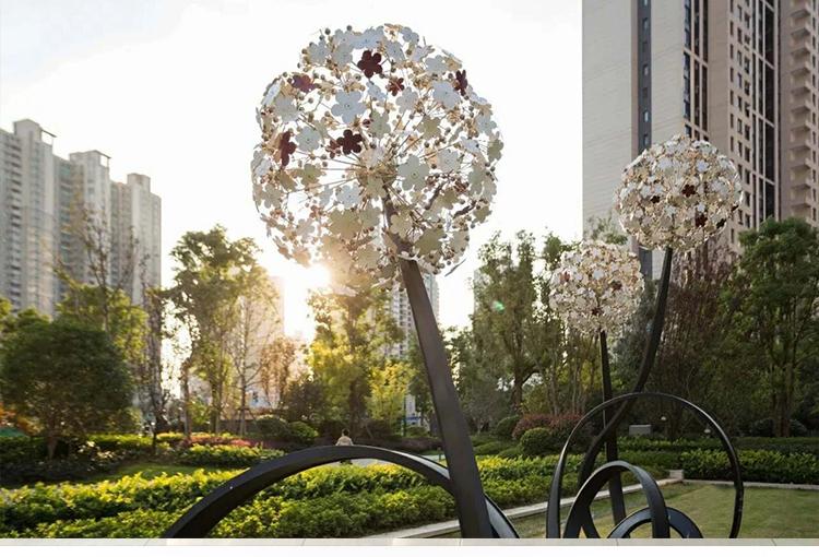 不锈钢蒲公英广场景观雕塑
