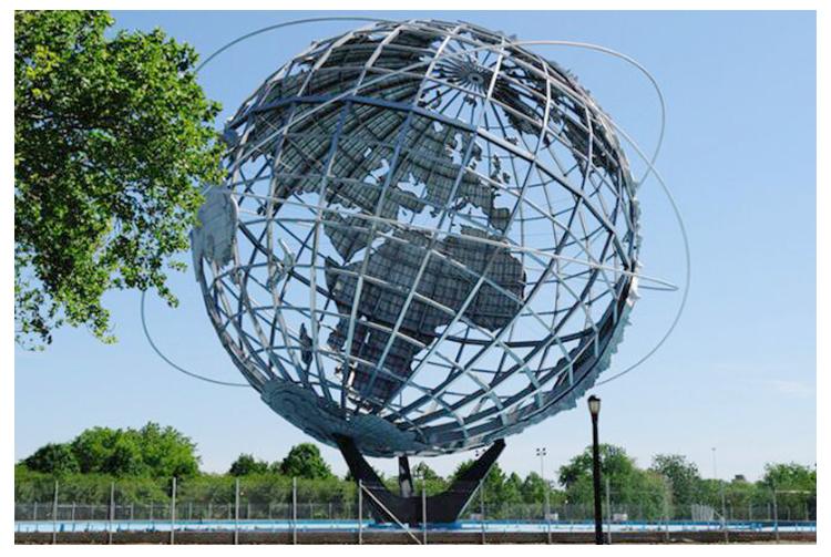 不锈钢地球城市校园广场景观雕塑
