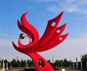 不锈钢凤凰雕塑为什么适合作为城市景观雕塑!