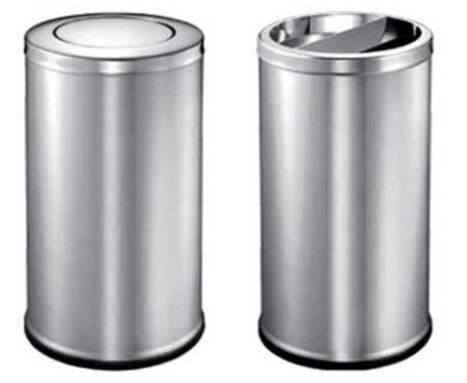 小区里面不锈钢垃圾桶原来都放这3种垃圾桶!