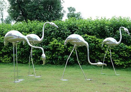 不锈钢火烈鸟雕塑,提升档次和品位的首选!