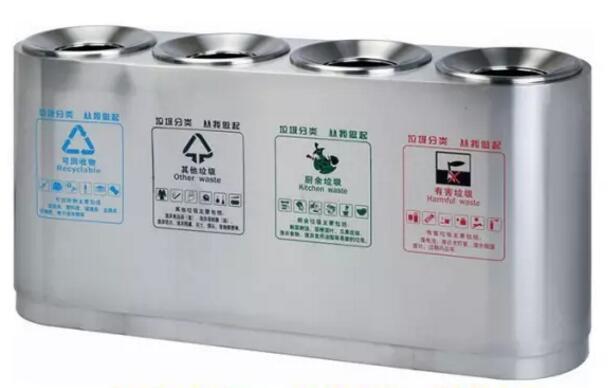不锈钢四分类垃圾桶有哪些特点?