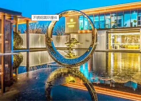 镜面不锈钢雕塑圆环雕塑!