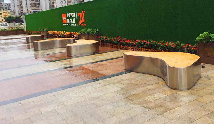 不锈钢+防腐木座椅,点缀不一样的生活!