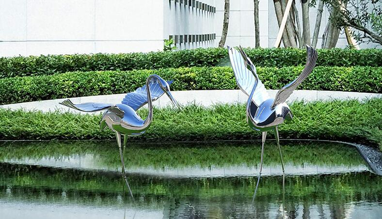 不锈钢仙鹤雕塑,祥瑞仙鹤雕塑!