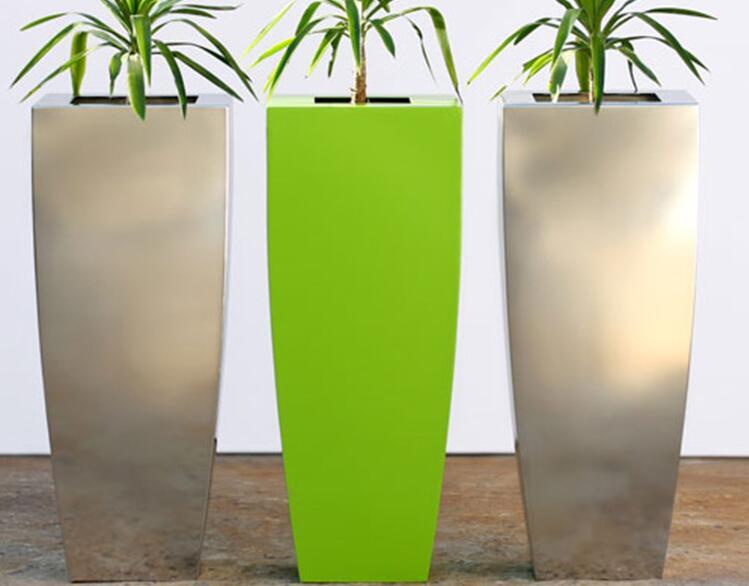 不锈钢户外景观花箱,量身定制的花钵首选!