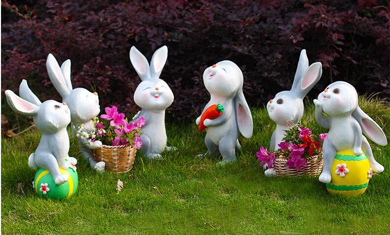玻璃钢兔子动物景观雕塑
