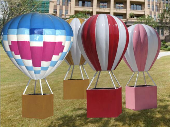 热气球玻璃钢雕塑,园林景观雕塑定制!