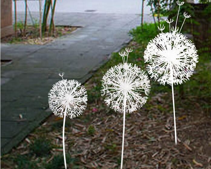 不锈钢蒲公英雕塑,花朵般的雕塑!