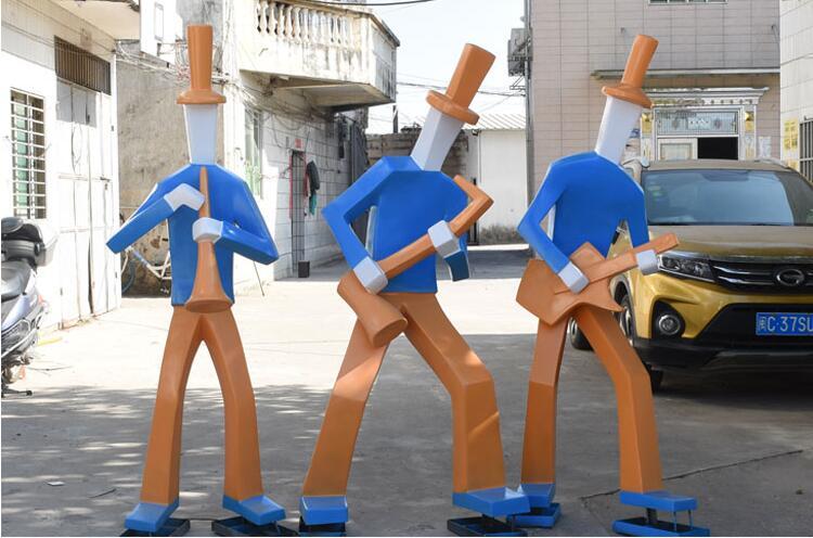 玻璃钢音乐人物广场雕塑