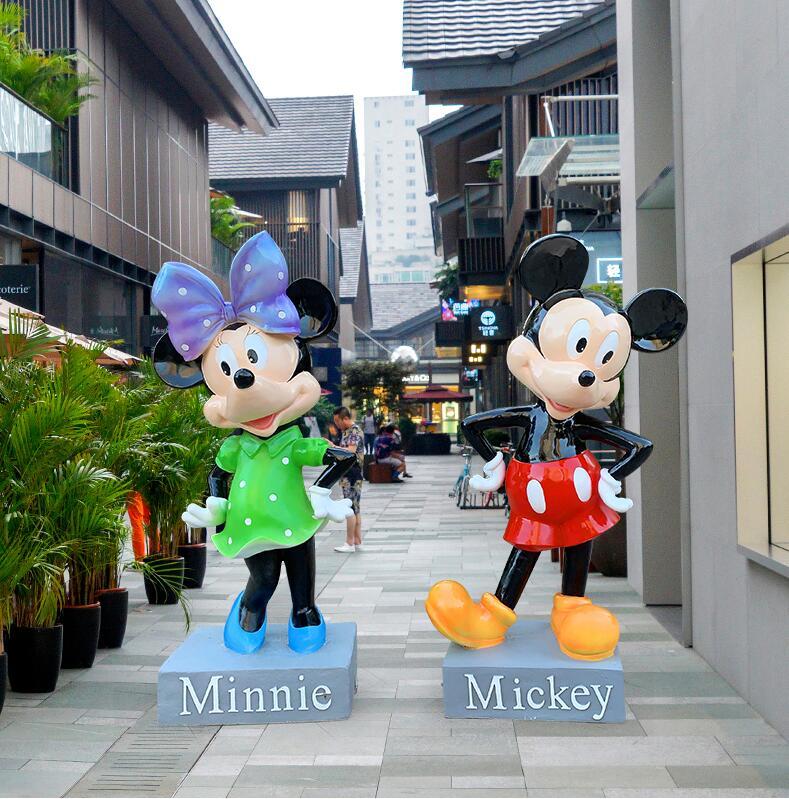 玻璃钢卡通米奇商场广场雕塑