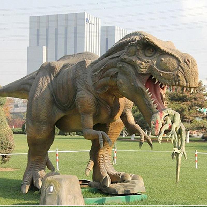 广场玻璃钢动物恐龙雕塑