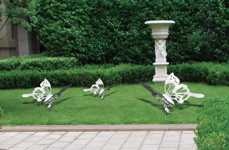 不锈钢蝴蝶摆件,公园花园景观都喜欢摆放的雕塑!