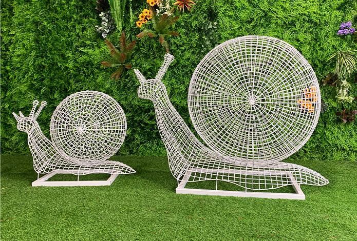不锈钢蜗牛雕塑,品位艺术之美!