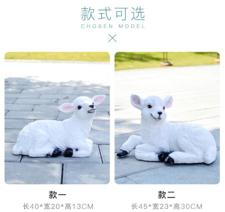 山羊玻璃钢动物景观广场雕塑