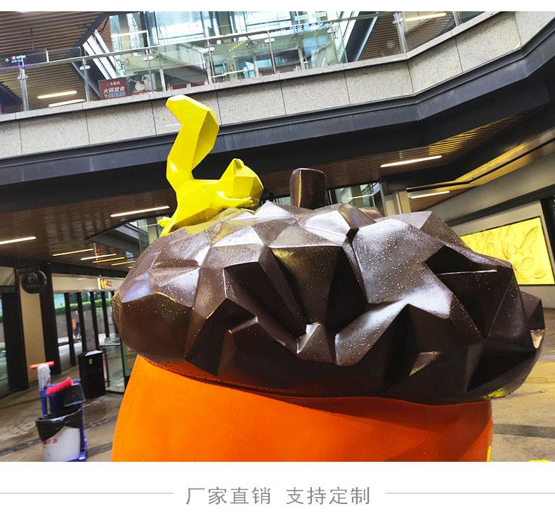 玻璃钢松鼠动物坚果景观雕塑