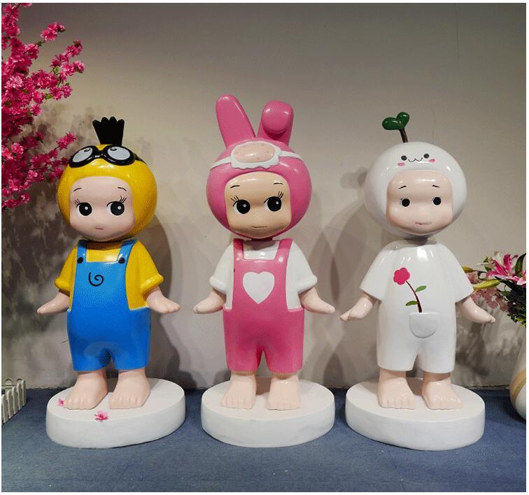 玻璃钢卡通娃娃动物商场雕塑