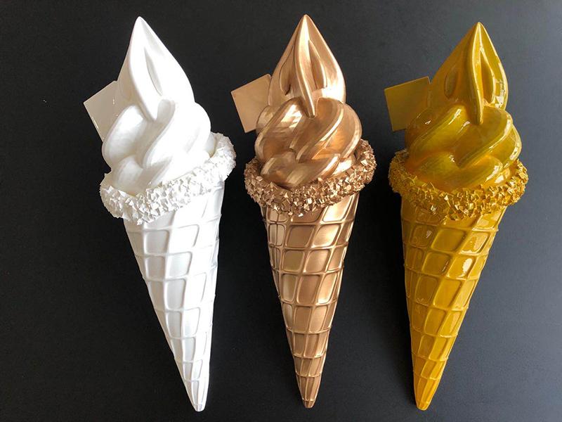国盛中心SOHO玻璃钢冰淇淋雕塑案例