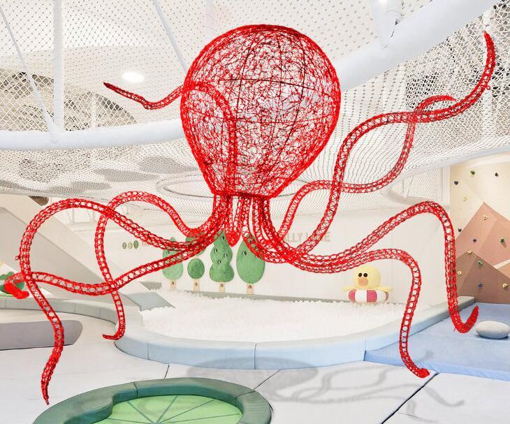 不锈钢镂空章鱼雕塑,艺术景观雕塑!