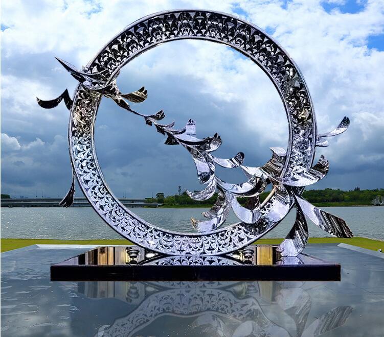 不锈钢房地产摆件,好看的抽象雕塑杰作!