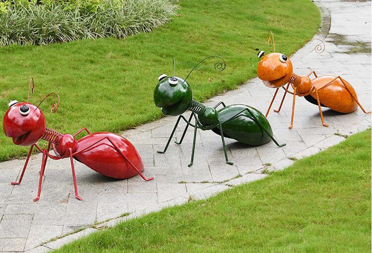 不锈钢蚂蚁雕塑,园林景观小区适合摆放的小品!