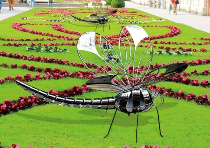 不锈钢铁艺蜻蜓雕塑,商业公共空间首选!