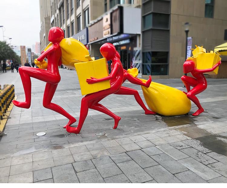 玻璃钢创意雕塑,这些创意雕塑2020年爆款!