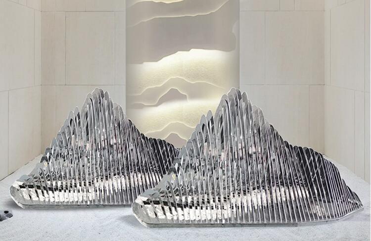 不锈钢假山雕塑,艺术让生活更有品味!